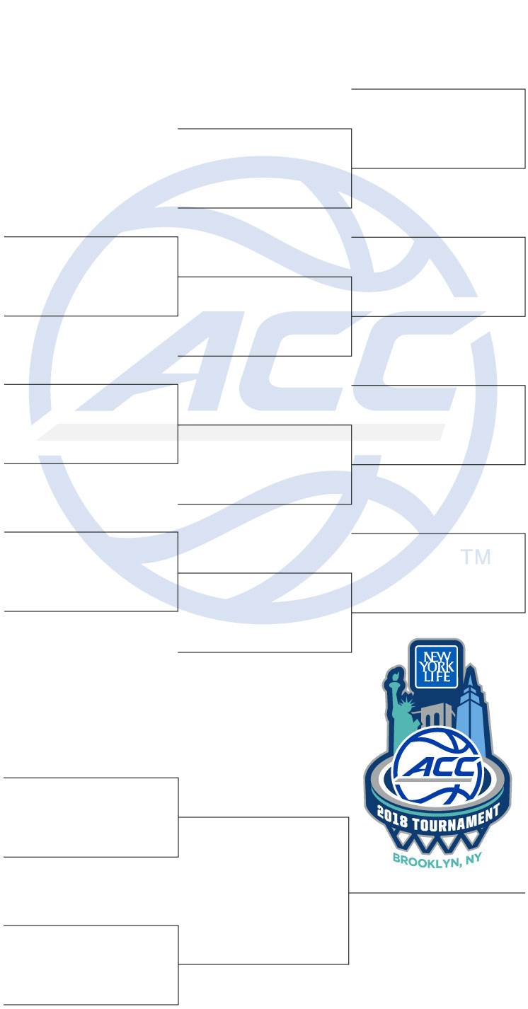 graphic about Acc Printable Bracket named 2018 ACC Mens Basketball Match bracket: Tv set program